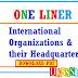 Important International Organizations & their Headquarter