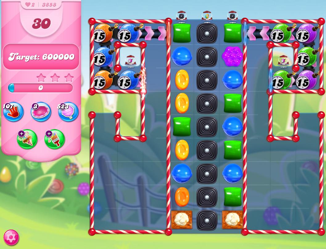 Candy Crush Saga level 3858