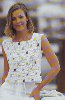 square mini blusa