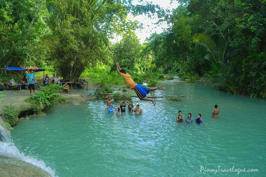 Tarzan Swing at Cambugahay Falls, Siquijor