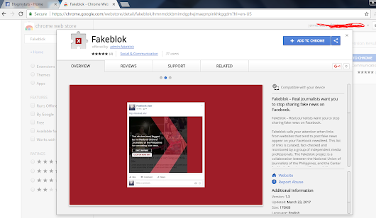 Pinoy Journos Launch Fakeblok Chrome Extension to Block FakeNews
