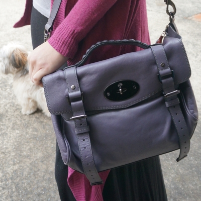 Mulberry regular Alexa bag in foggy grey | AwayFromTheBlue Blog