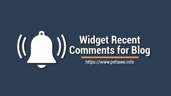 Cara Membuat Widget Recent Comments Disqus di Blog