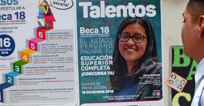 BECA 18: El 23 de noviembre vence inscripción para examen nacional de preselección - PRONABEC - www.pronabec.gob.pe