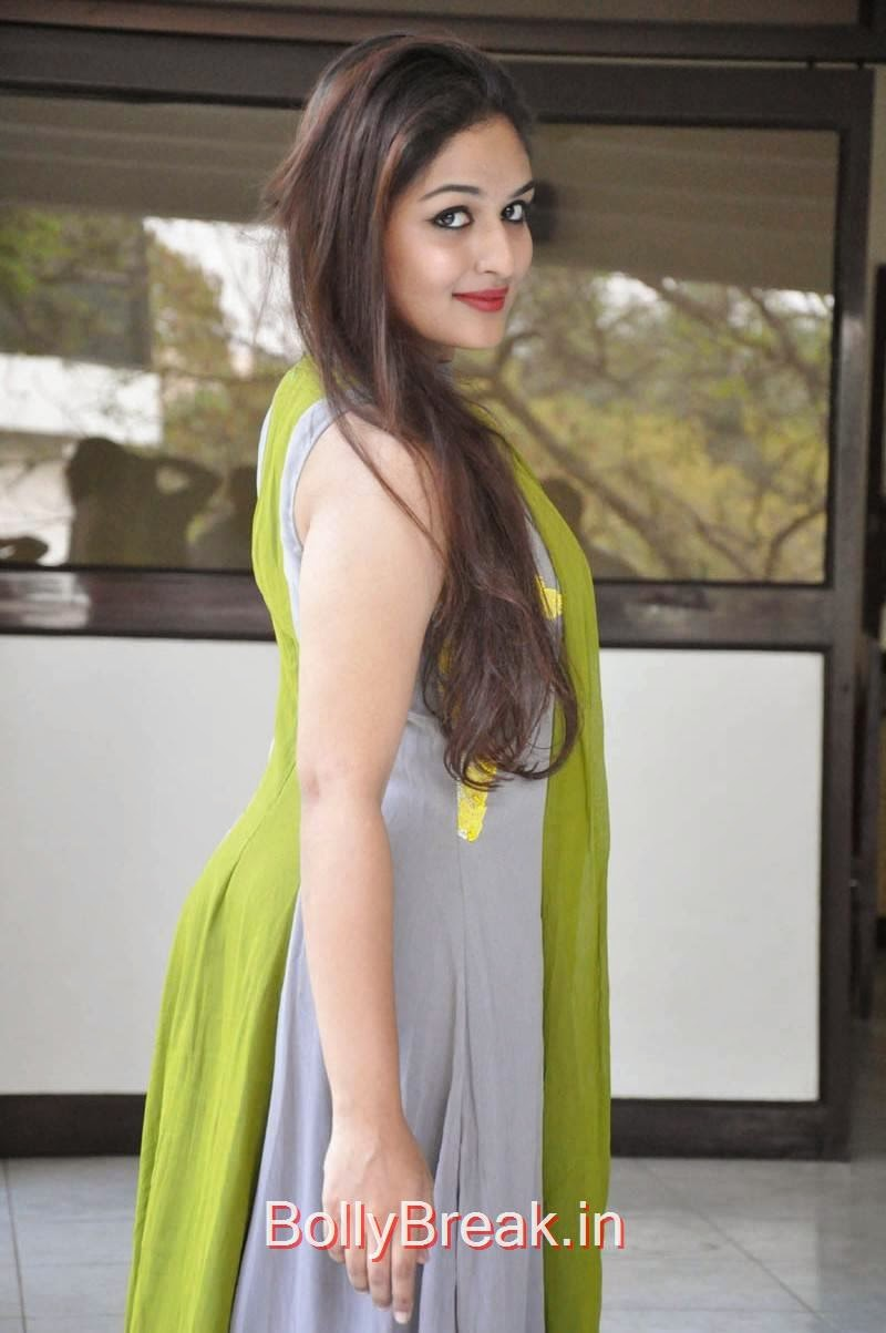 Prayaga Martin Photos At Pisachi Movie Success Meet, Actress Prayaga Martin Hot HD Images in Green dress