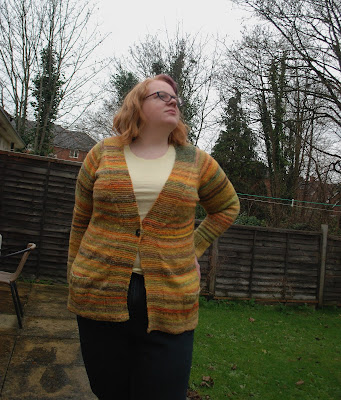 Handspun funky striped sweater