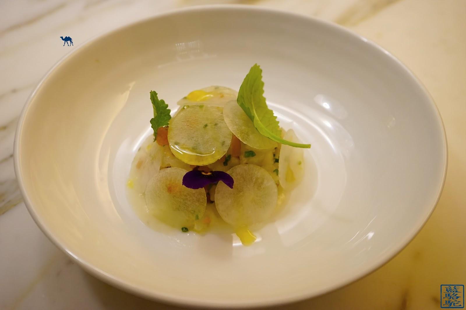 Le Chameau Bleu - Blog Restaurant Noglu -Noglu Marais à Paris- Tartare deTurbot - Navet Long - Poutargue