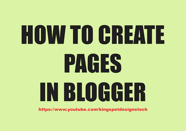 Blogger How To: Add New Pages or Tabs
