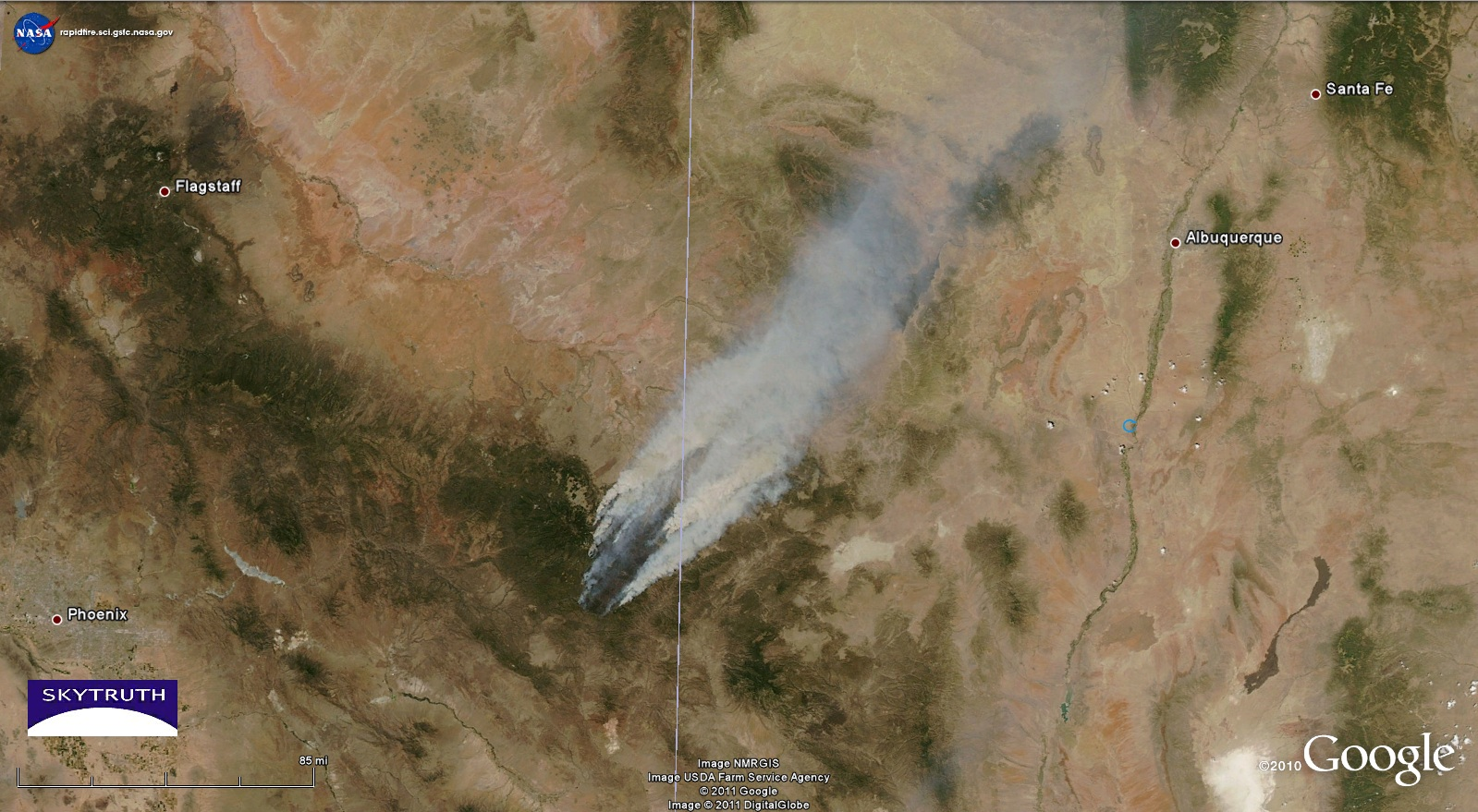 Arizona Active Fire Map.The Monster Arizona Wildfire As Seen From Space Business Insider