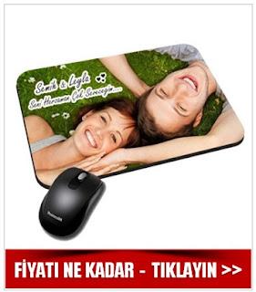 Fotoğraflı İsim ve Mesaj Baskılı Mouse Pad