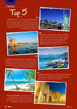 Priyanka's top 5 global destinations on Notch June-2013