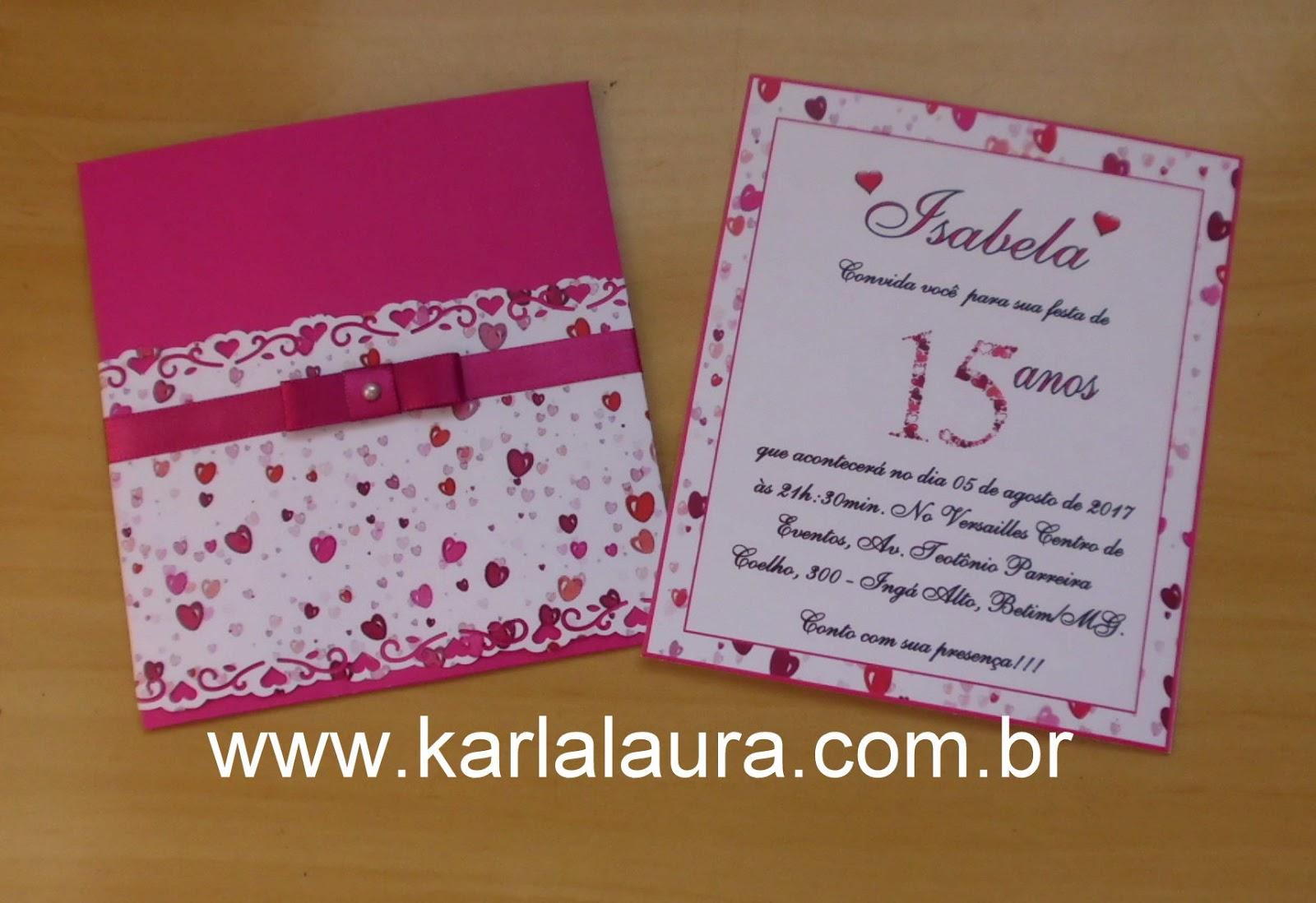 Convite De Aniversario De 15 Anos: Convite De Aniversário 15 Anos
