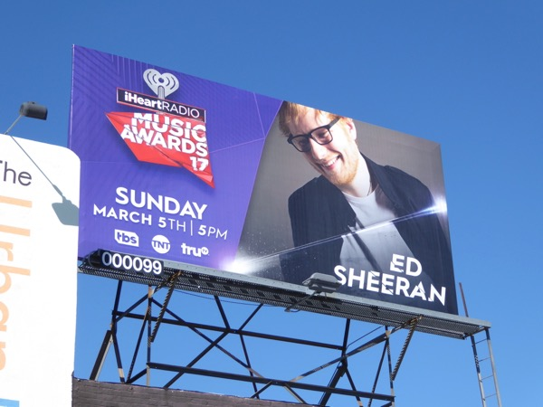 iHeart Radio Awards 2017 Ed Sheehan billboard