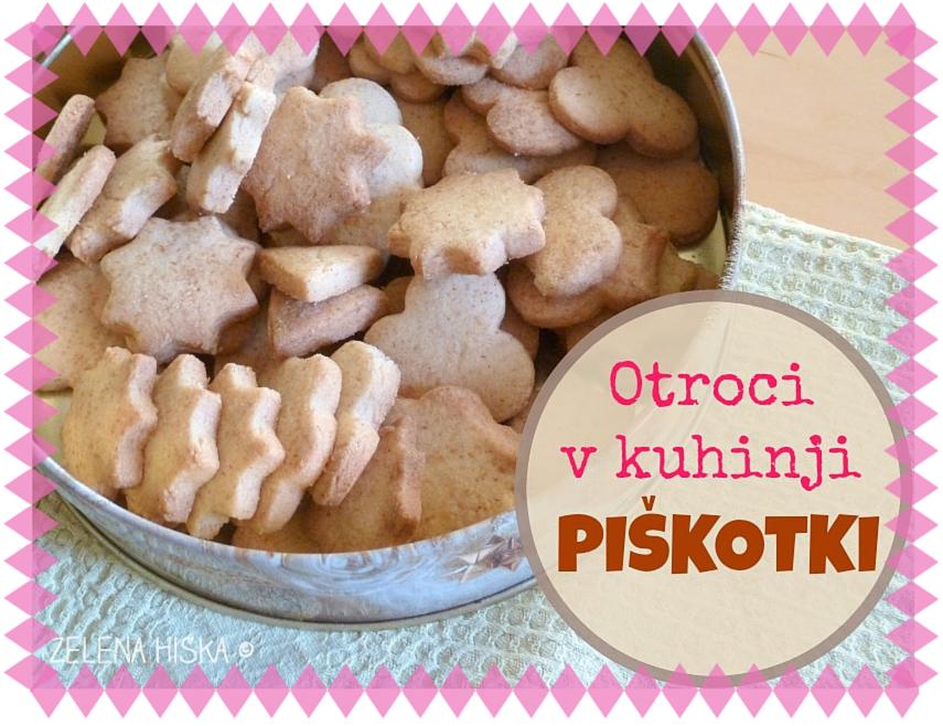 peka piškotov skupaj z otroki