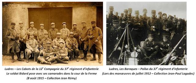 LUDRES (54) - 37e Régiment d'infanterie 1912-1915