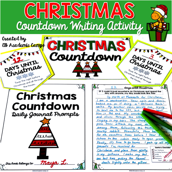 christmas writing prompts Christmas writing christmas writing: cube writing prompts (christmas edition) these cube writing prompts make writing an adventure piece unpredictable and fun they encourage the use of imagination, or tickle the student's funny bone and can be strong motivators to produce good writing.