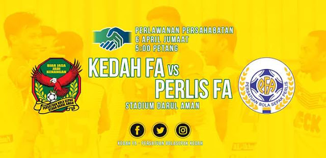 Live Streaming Kedah vs Perlis 6.4.2018 Friendly Match