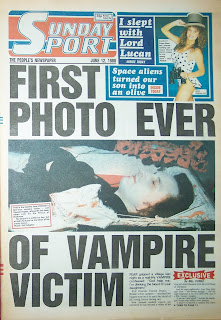 front page of the Sunday Sport newspaper from 12 June 1988