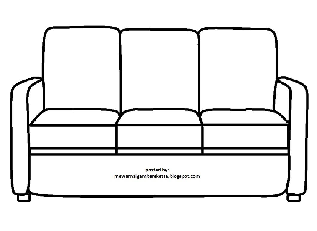 Mewarnai Gambar Sketsa Sofa 1