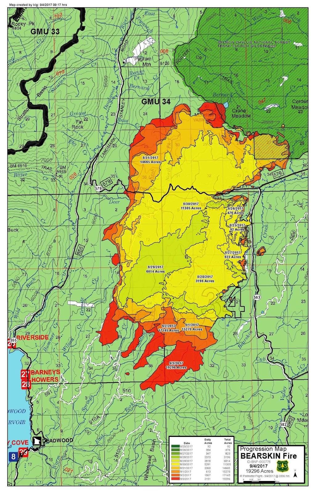 Idaho Fire Information: Bearskin Fire Update –Tuesday ... on northern idaho map, montana state map, idaho river map, wa state map, idaho topo map, idaho pipeline map, preston idaho map, idaho hospital map, interstate 422 map, idaho travel map, idaho drive map, idaho fire map, idaho map with cities, idaho desert map, idaho snow map, boise idaho map, oregon washington idaho map, idaho landscape map, hokkaido travel map, idaho rd map,