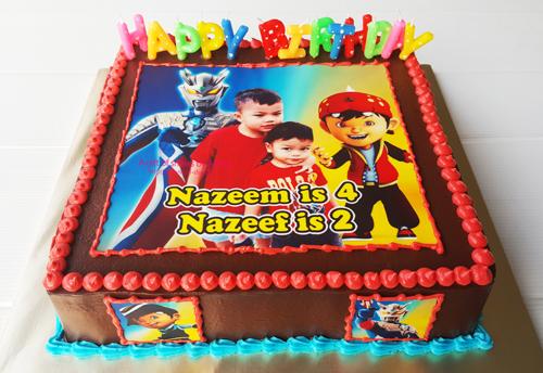 Ultraman & Boboiboy Birthday Cake