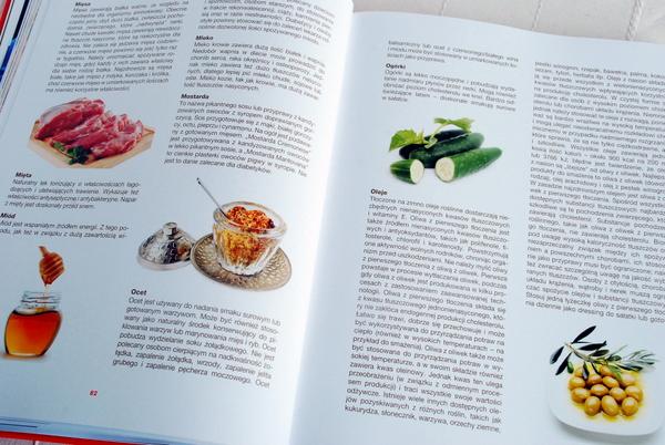 Wnętrze książki – fragment poświęcony produktom spożywczym