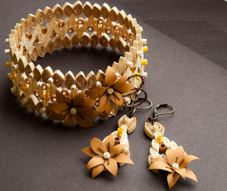 Quilling Paper Bangles/Bracelet Designs for Girls - Quilling designs