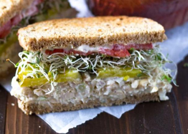 Chickpea Salad Sandwiches  #vegetarian #salad #sandwich #food #dinner