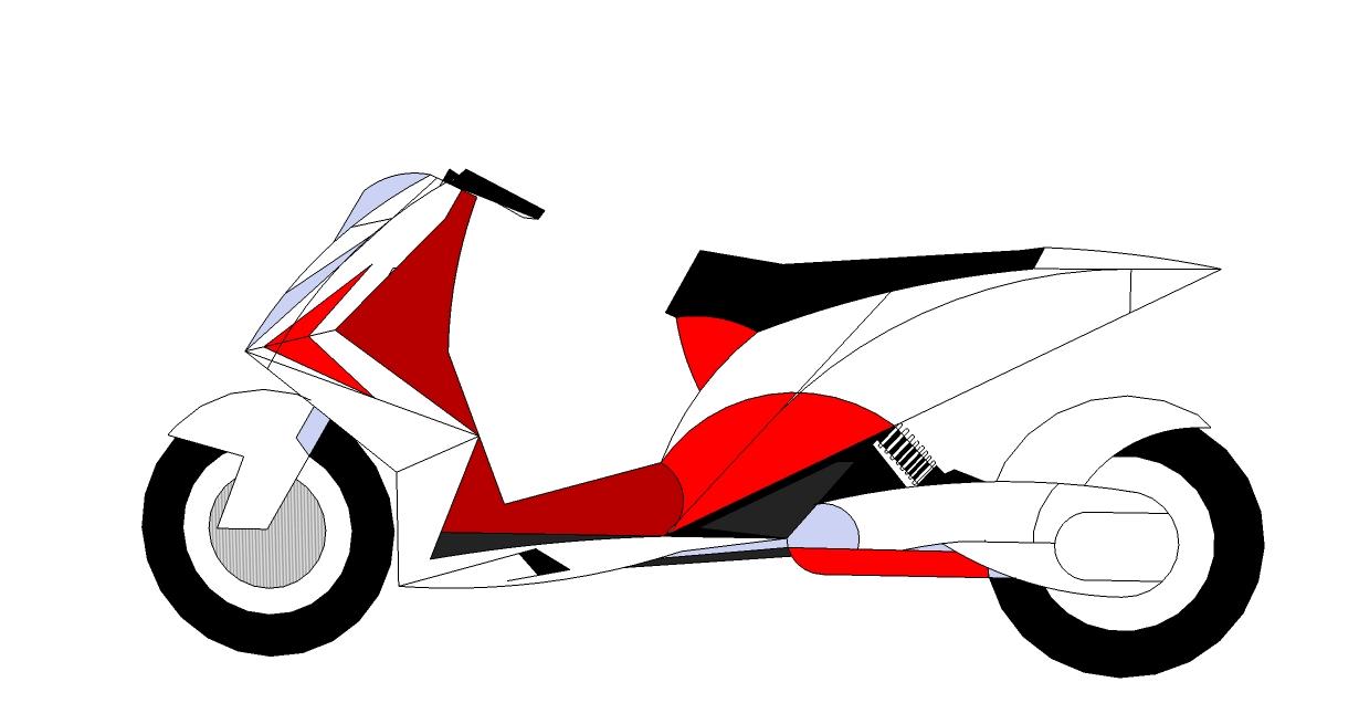 Kumpulan Gambar Kartun Motor Matic Kolek Gambar