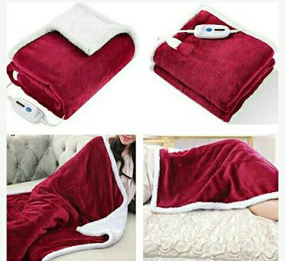 MaxKare Electric Blanket: Body Warmer Winter Flannel