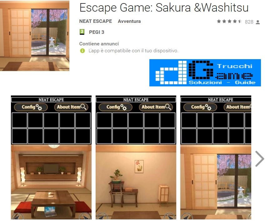 Soluzioni Escape Game: Sakura &Washitsu livello livello unico | Trucchi e Walkthrough level