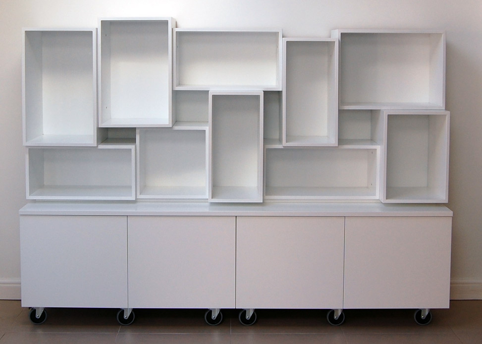 White Display Cabinet And Storage