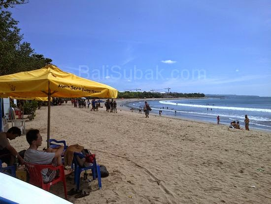 The situation on the attractions of Kuta Beach Bali