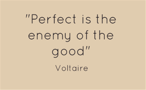 WHY IS PERFECTION THE ENEMY OF ENTREPRENEURS?