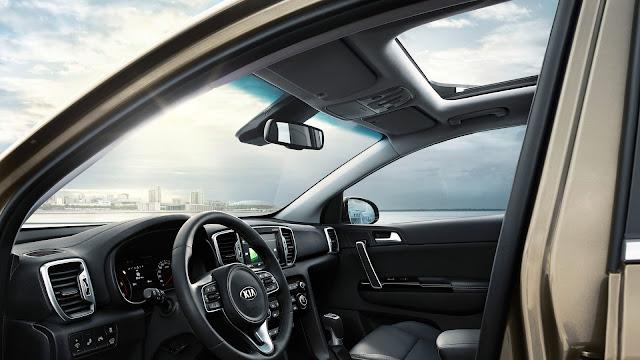 kia sportage 2016 tetto vetro panoramico elettrico apertura automatica