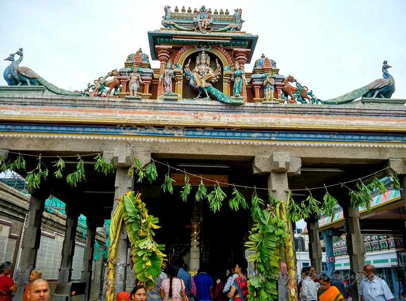 Goddess Parvati shrine in the Kapaleeshwar Temple, Chennai, Tamil Nadu