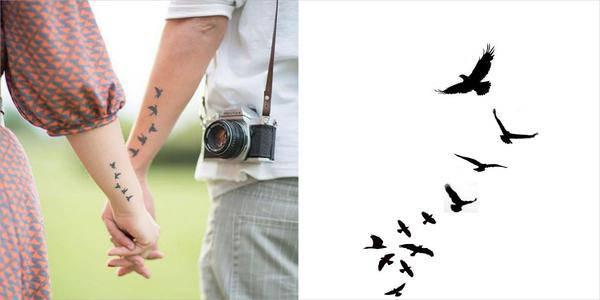 Birds ,tattoo fixers, designs of couple