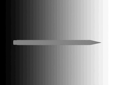 Light or Dark Pencil Optical Illusion