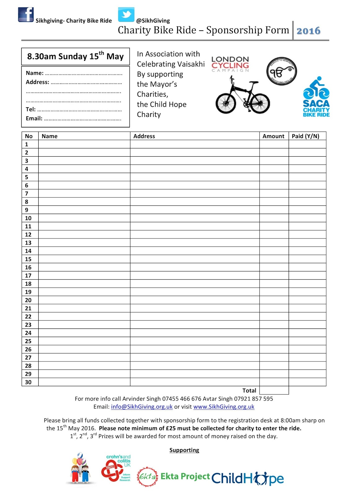 Doc10001294 Charity Sponsorship Form Template Doc12401754 – Charity Sponsor Form