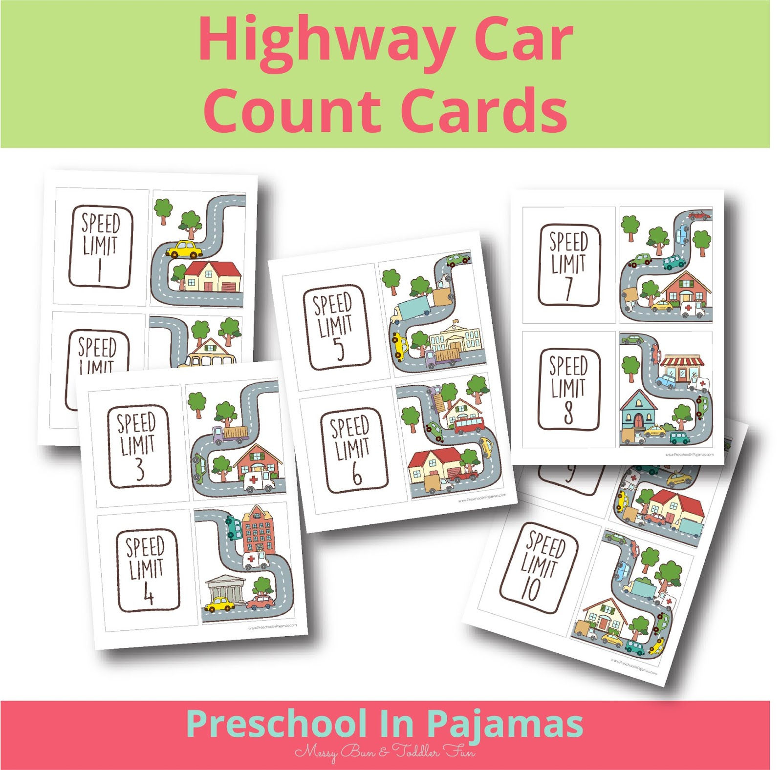 Free Highway Car Counting Printable Cards