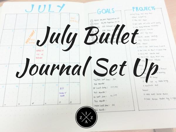 July Bullet Journal Set Up