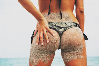 Sandy beach bum