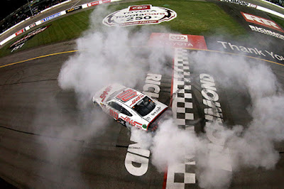 Burnout after the No.00 of Cole Custer finished on top in the #NASCAR Xfinity Series race at Richmond.