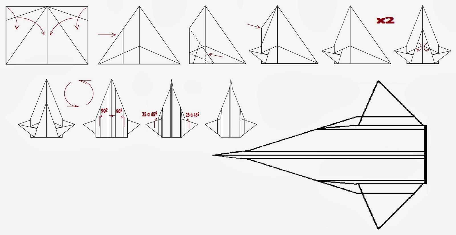 Avión de papel Wing 62