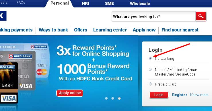 Hdfc forex internet banking