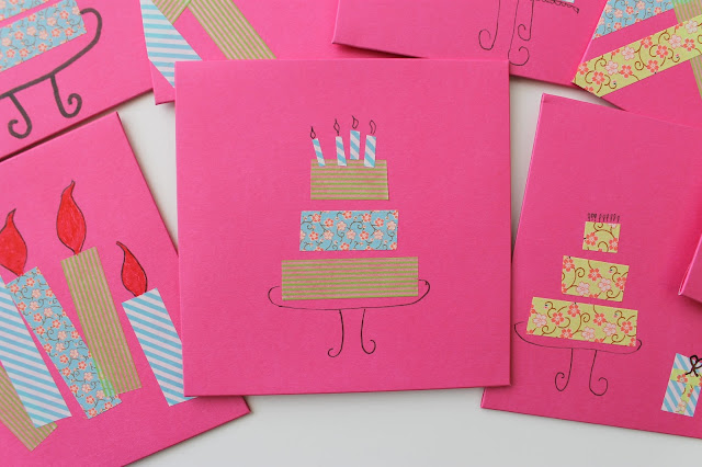 Washi tape birthday invitations, art party, craft party, tween birthday