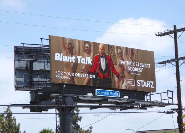 Blunt Talk season 1 Emmy 2016 Starz billboard