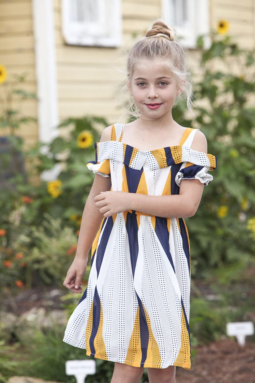 Little girl in flowy dress
