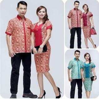 Contoh baju batik couple untuk pesta anak muda