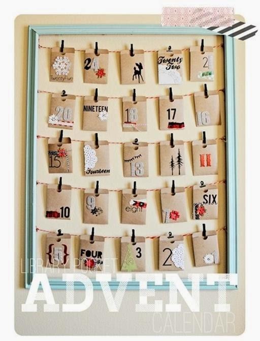 kalendarz adwentowy papier, koperty